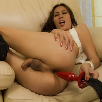 Buttplug in Ladyboy Bow