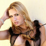 Brazilian blonde beauty Taisa is the personification of horny