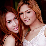 Thick dick Thai ladyboy Hotel stripper