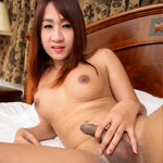 Cute ladyboy with lovely cock!